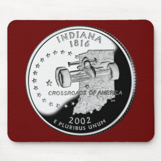 Indiana State Quarter Mouse Pad