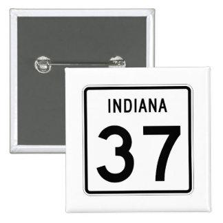 Indiana State Road 37 15 Cm Square Badge
