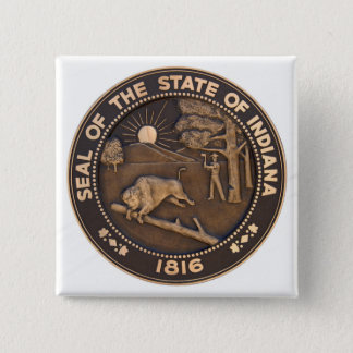 Indiana State Seal 15 Cm Square Badge