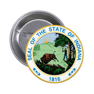 Indiana state seal america republic symbol flag 6 cm round badge