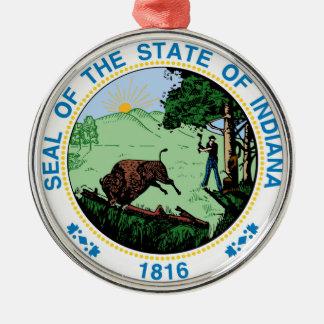 Indiana state seal america republic symbol flag christmas ornament