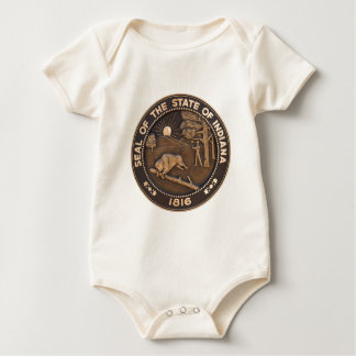 Indiana State Seal Baby Bodysuit