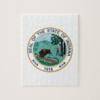 Indiana State Seal Jigsaw Puzzle