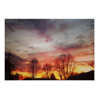 Indiana Sunset Poster
