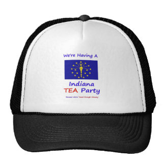 Indiana TEA Party - We re Taxed Enough Already Trucker Hats