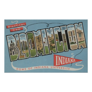 Indiana University - Large Letter Scenes Poster