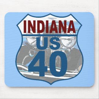 Indiana US Route 40 - Duesenberg Mousepads