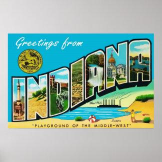 Indiana Vintage Greetings Poster