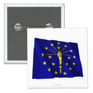 Indiana Waving Flag Buttons