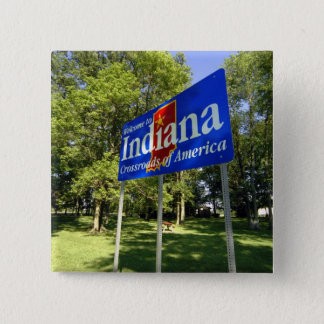 Indiana Welcome Sign 15 Cm Square Badge
