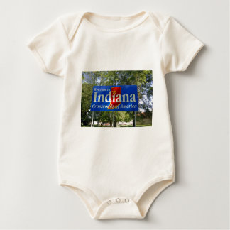 Indiana Welcome Sign Baby Bodysuit