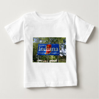 Indiana Welcome Sign Baby T-Shirt
