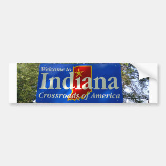 Indiana Welcome Sign Bumper Sticker