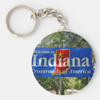 Indiana Welcome Sign Key Ring