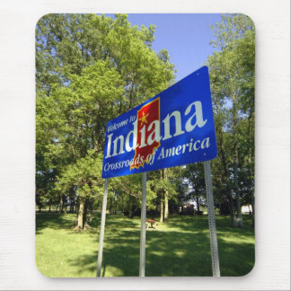 Indiana Welcome Sign Mouse Mat