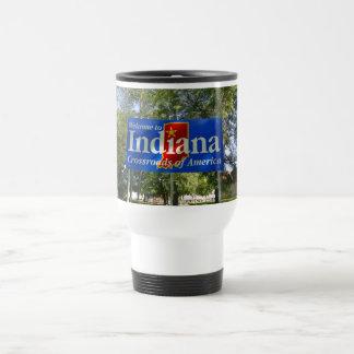 Indiana Welcome Sign Travel Mug