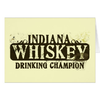 Indiana Whiskey Drinking Champion Card