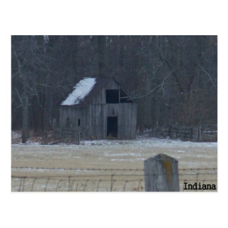 Indiana Winter Postcard