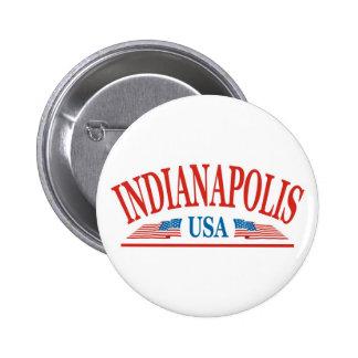 Indianapolis 6 Cm Round Badge