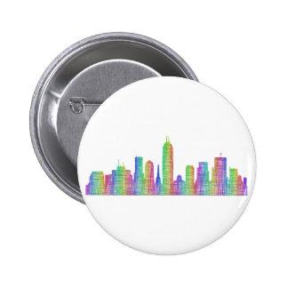 Indianapolis city skyline 6 cm round badge
