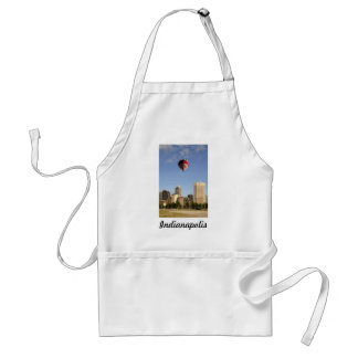Indianapolis City Skyline Adult Apron