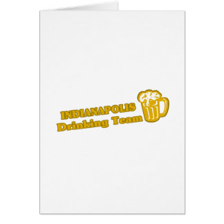 Indianapolis Drinking Team tee shirts Greeting Cards