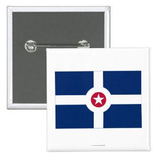 Indianapolis Flag 15 Cm Square Badge