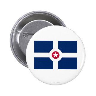 Indianapolis Flag 6 Cm Round Badge