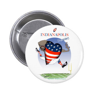 indianapolis football champs, tony fernandes 6 cm round badge