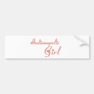 Indianapolis Girl tee shirts Bumper Stickers