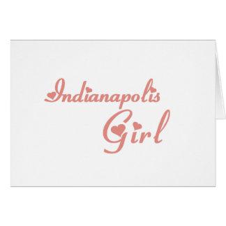 Indianapolis Girl tee shirts Greeting Card