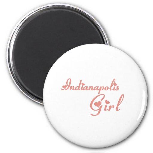 Indianapolis Girl tee shirts Fridge Magnet