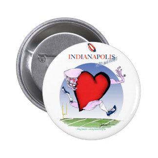 indianapolis head heart, tony fernandes 6 cm round badge