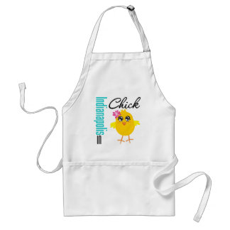 Indianapolis IN Chick Adult Apron