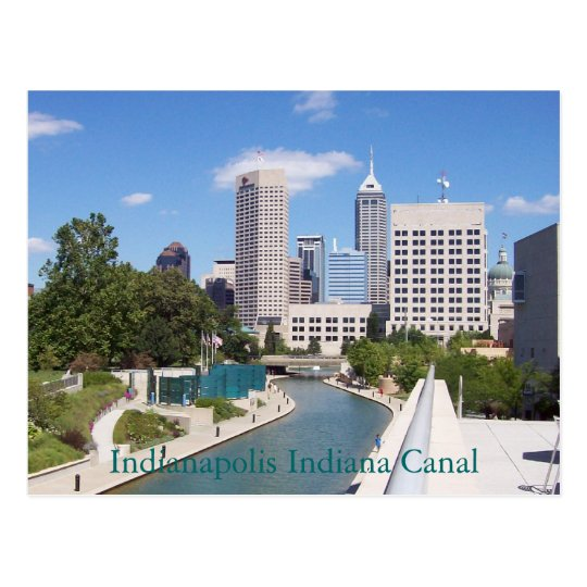 Indianapolis Indiana Canal Postcard