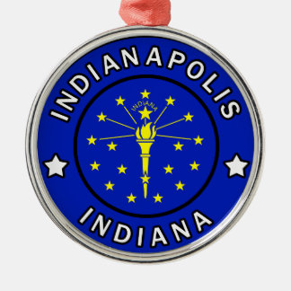 Indianapolis Indiana Christmas Ornament