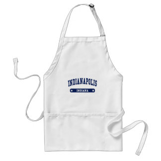 Indianapolis Indiana College Style tee shirts Adult Apron