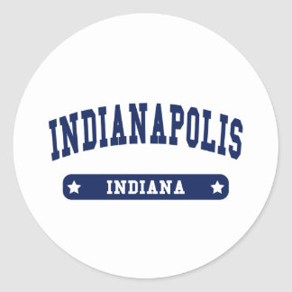 Indianapolis Indiana College Style tee shirts Round Stickers