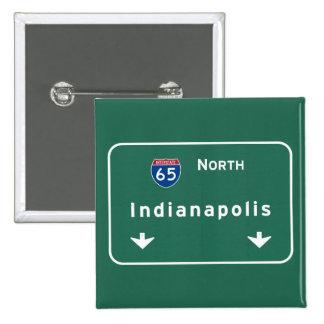 Indianapolis Indiana Interstate Highway Freeway : 15 Cm Square Badge
