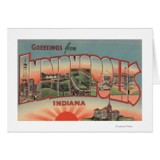 Indianapolis, Indiana - Large Letter Scenes 2 Card