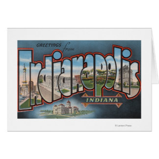 Indianapolis, Indiana - Large Letter Scenes 3 Card