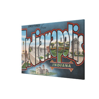 Indianapolis, Indiana - Large Letter Scenes 4 Canvas Print