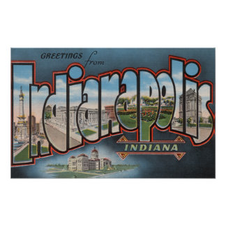 Indianapolis, Indiana - Large Letter Scenes 4 Poster