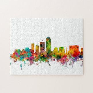 Indianapolis Indiana Skyline Jigsaw Puzzle