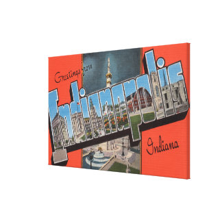 Indianapolis, Indiana (Town Plaza) Canvas Print