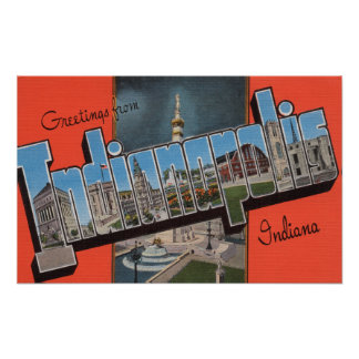 Indianapolis, Indiana (Town Plaza) Poster