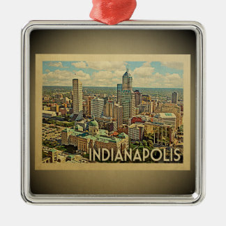 Indianapolis Indiana Vintage Travel Ornament