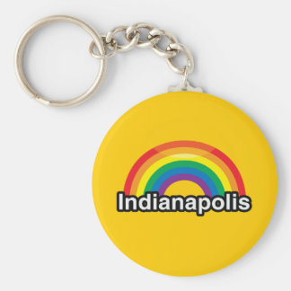 INDIANAPOLIS LGBT PRIDE RAINBOW KEY CHAINS