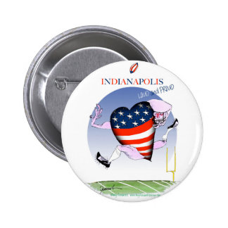 indianapolis loud and proud, tony fernandes 6 cm round badge
