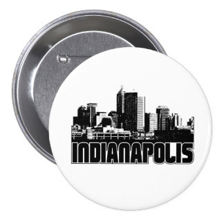 Indianapolis Skyline 7.5 Cm Round Badge